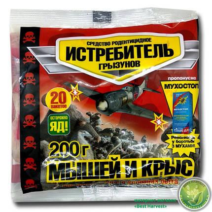 Родентицид «Истребитель» тесто 200 г (от крыс и мышей), оригинал, фото 2