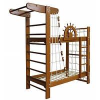 Двухъярусная кровать-спортивный уголок «Пират-2» Ирель