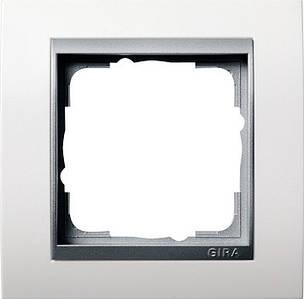 Gira 021171 Рамка установочная 1 пост Gira Event алюминий белый