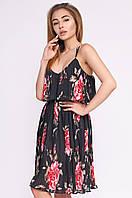 Женское платье плиссе на бретелях KP-10249-8