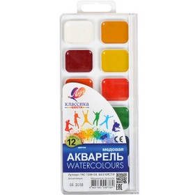 """Акварель """"Классика"""" 12 цветов """"Луч"""" 18,5*8см"""