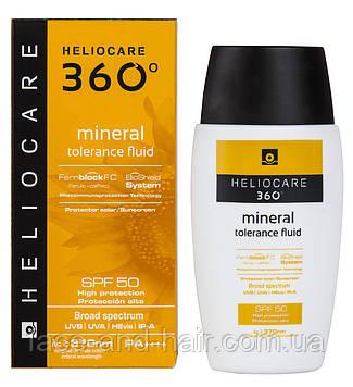 Флюид минеральный солнцезащитный для чувствительной кожи Cantabria Heliocare 360 Mineral Tolerance Fluid SPF50