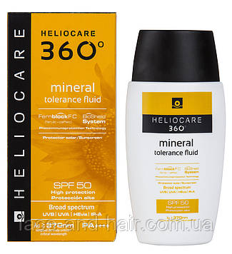 Солнцезащитный минеральный крем-флюид Cantabria Heliocare 360 Mineral Tolerance Fluid SPF 50