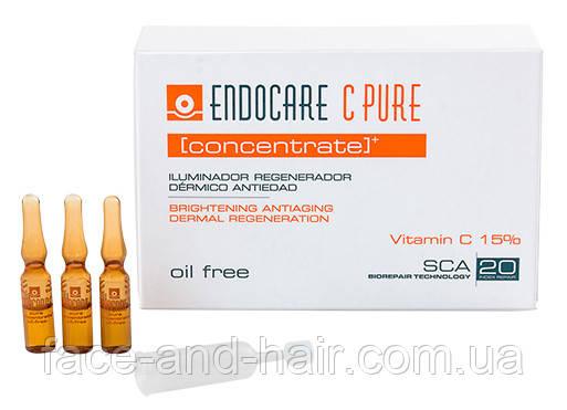 Регенерирующий омолаживающий концентрат с витамином Cantabria Endocare C Pure Concentrate 7х1 мл