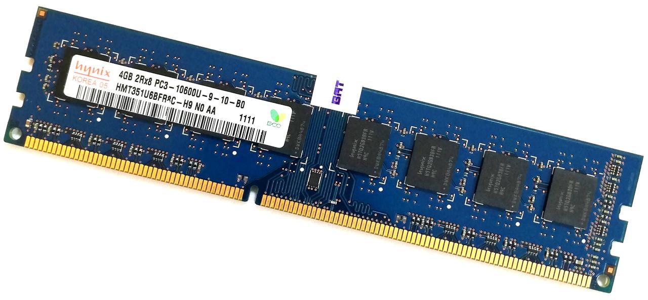 Оперативная память Hynix DDR3 4Gb 1333MHz PC3-10600 2R8 CL9 (HMT351U6BFR8C-H9 N0 AA) Б/У
