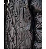 Куртка А-силуэта №1686-1-черный, фото 3