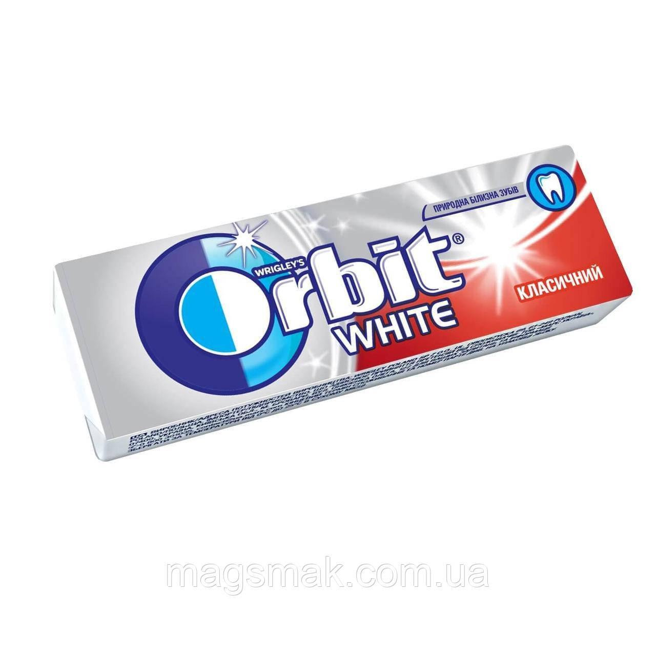 Жевательная резинка Orbit White Классический без сахара 14г