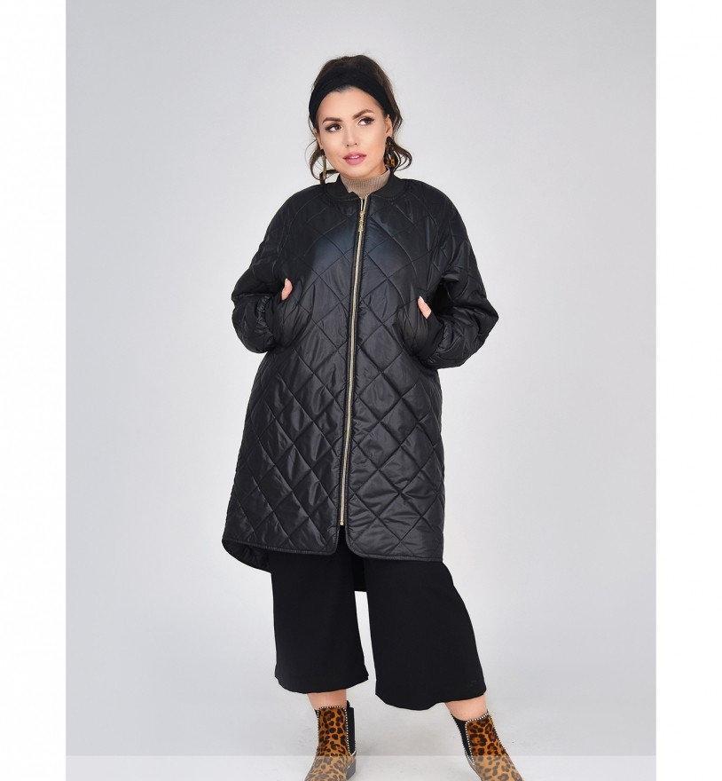 Куртка А-силуэта №1686-1-черный