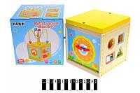 Деревянная игрушка сортер В24523, куб логіка