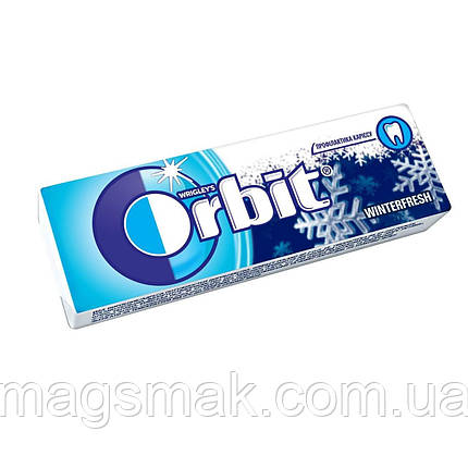 Жевательная резинка Orbit Winterfresh Зимняя свежесть без сахара 14г, фото 2