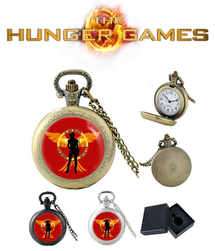 Карманные часы if we burn You burn with us Голодные игры / The Hunger Games
