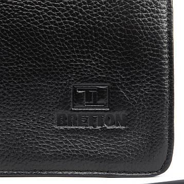 Сумка Мужская Планшет кожаный BRETTON BP 3596-3 черная, фото 2