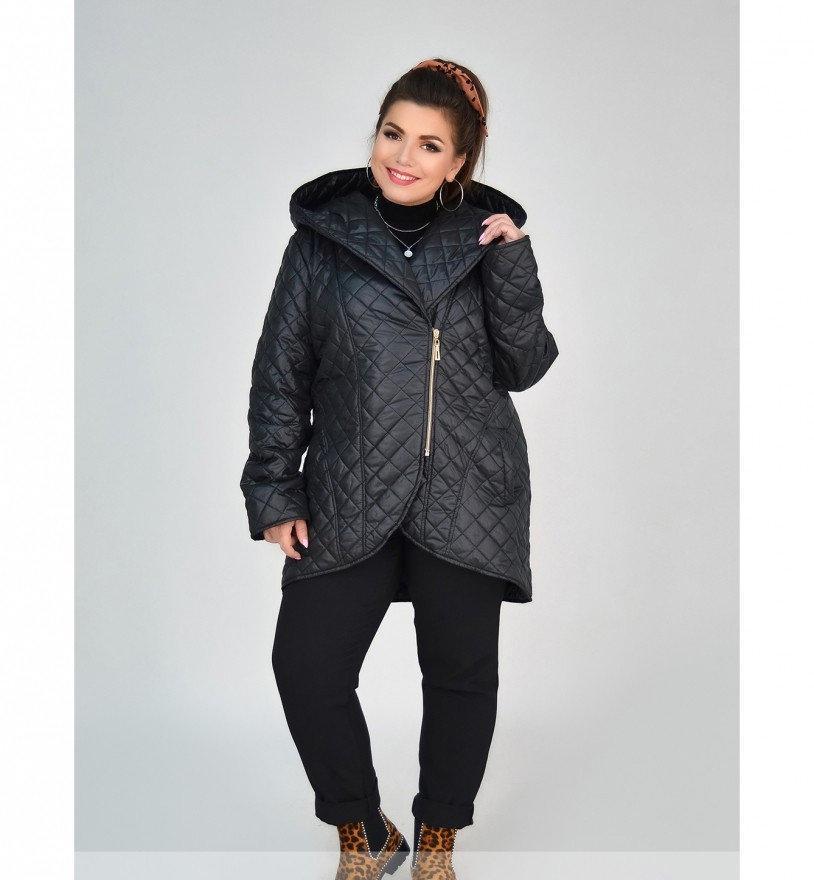 Куртка батал напоминает косуху №1858-1-черный