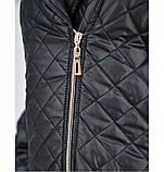 Куртка батал напоминает косуху №1858-1-черный, фото 4