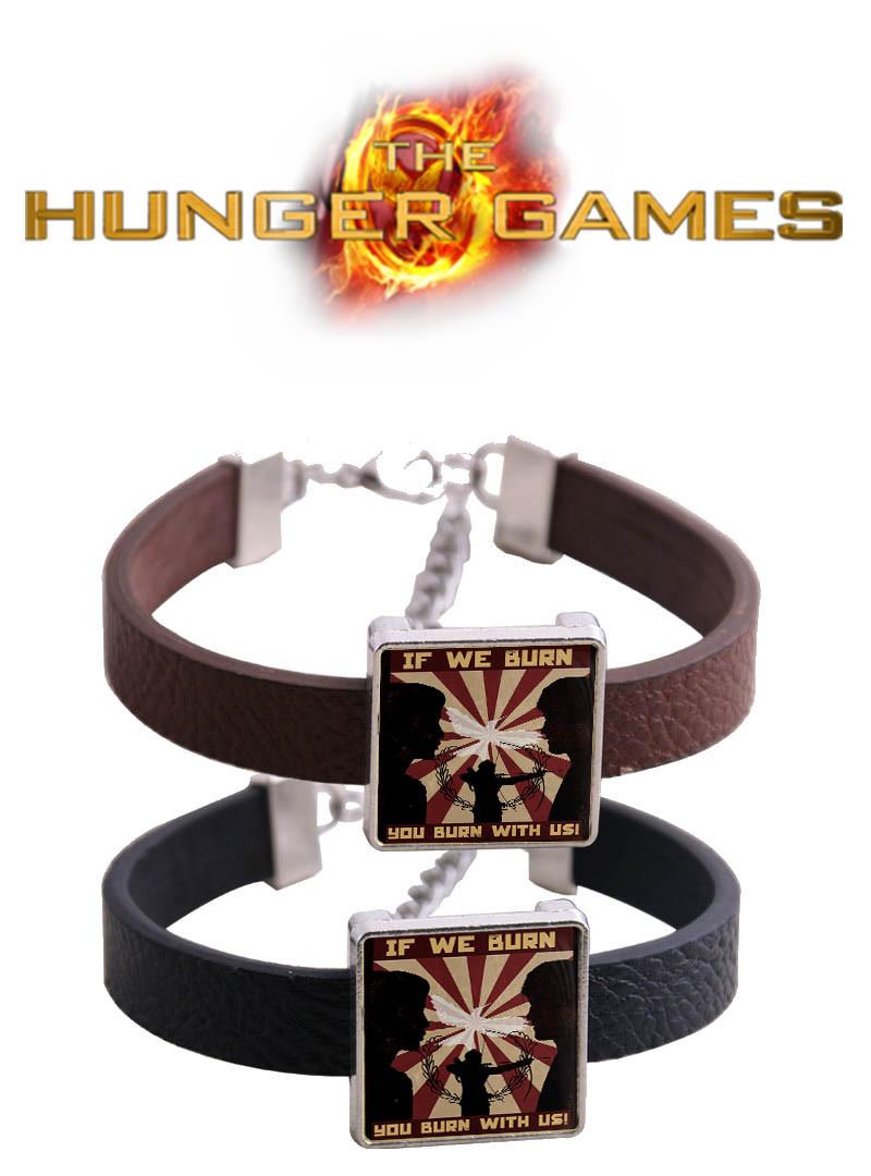 Браслет if we burn You burn with us Голодные игры / The Hunger Games