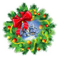 """Вырубка малая """"Рождественский венок"""""""