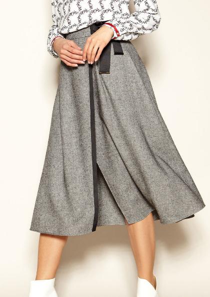 Женская юбка на запах Caty Zaps серого цвета