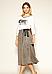 Женская юбка на запах Caty Zaps серого цвета, фото 4