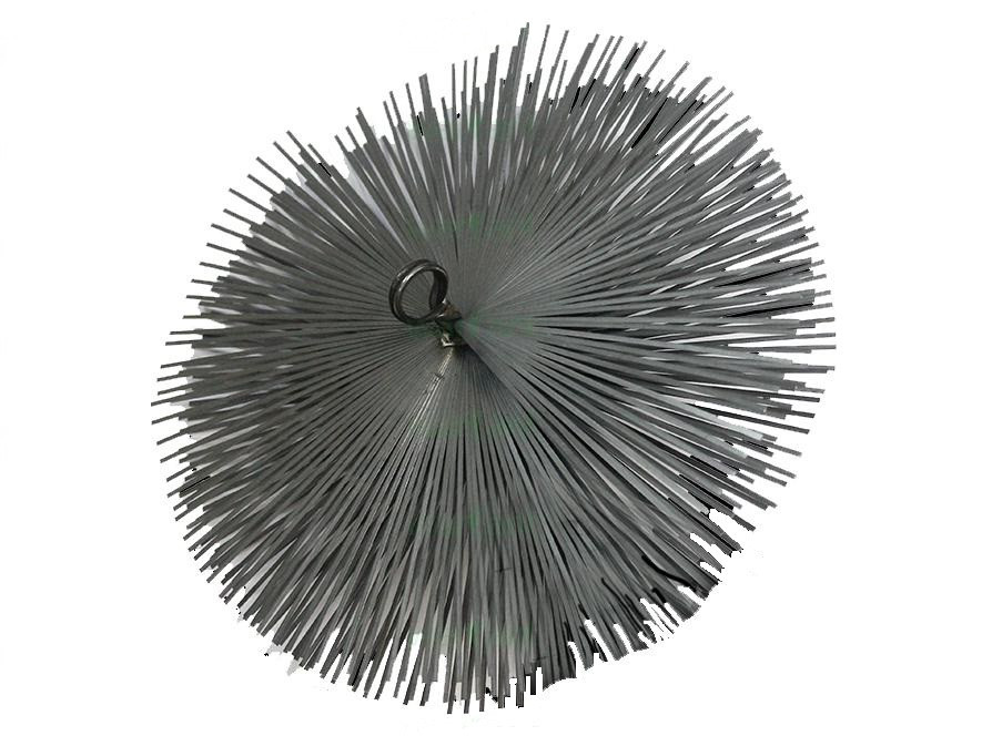 Йорж для чищення димоходу сталевий під різьблення діаметр мм