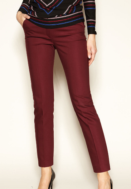 Женские бордовые брюки Lotty Zaps