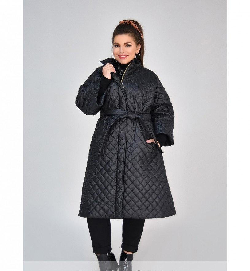 Куртка А-силуэта №1852-1-черный
