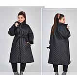 Куртка А-силуэта №1852-1-черный, фото 4