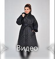 Куртка А-силуэта №1852-1-черный, фото 1