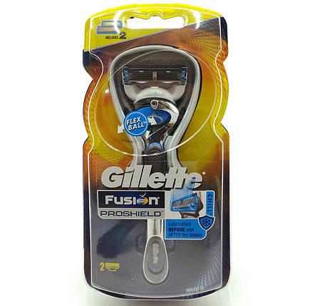 Бритвенный станок Gillette Fusion Proshield 2 картриджа (GFPS2), фото 2