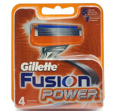 Сменные картриджы для станка Gillette Fusion Power 4шт (KGFP4), фото 2