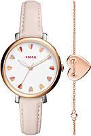 Жіночий годинник Fossil ES4351SET Pink, браслет - 189125