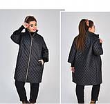 Куртка прямого кроя №1853-1-черный, фото 4