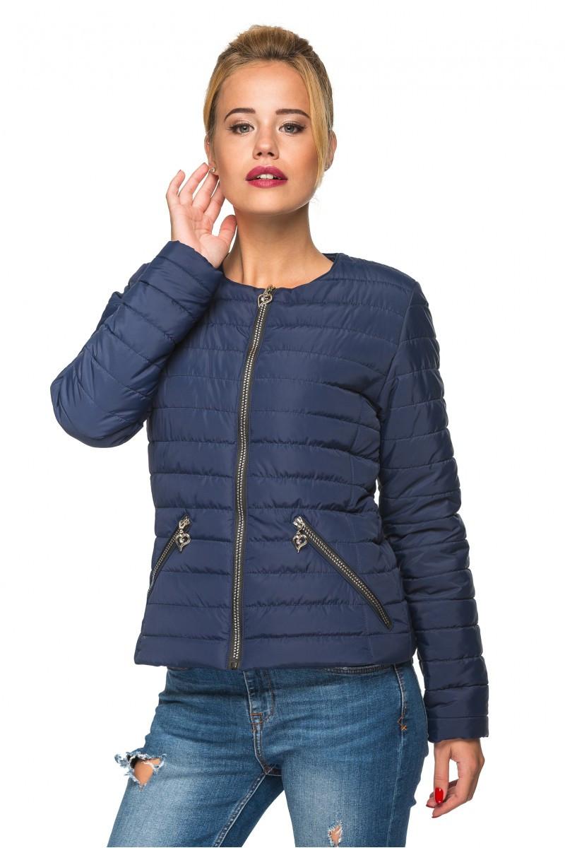 Стильная женская куртка Таяна синий (46-54)