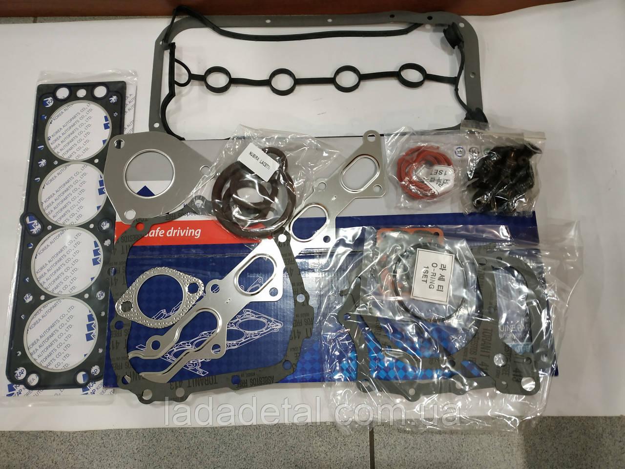 Прокладки двигателя Лачети 1.6 полный Kap (Корея)