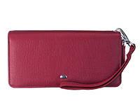 Женский кожаный кошелек клатч на две молнии ST238-2 Red