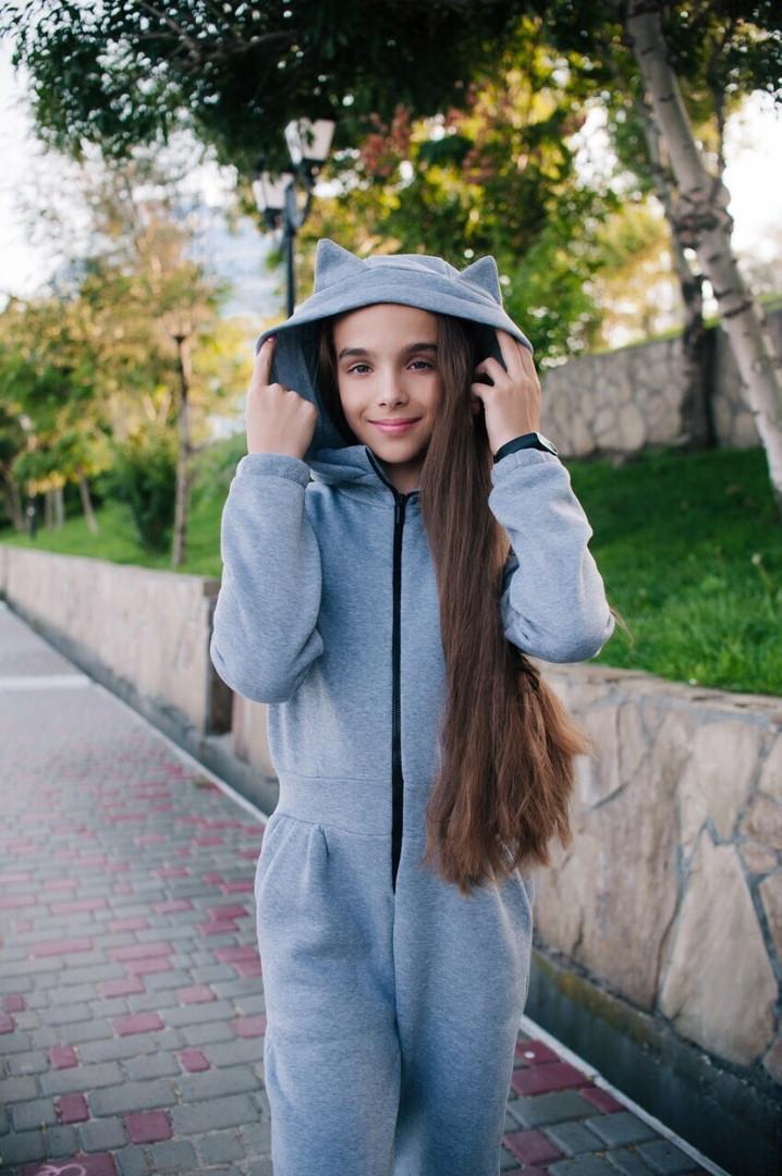 Комбинезон LiLove 436-3 140 серый