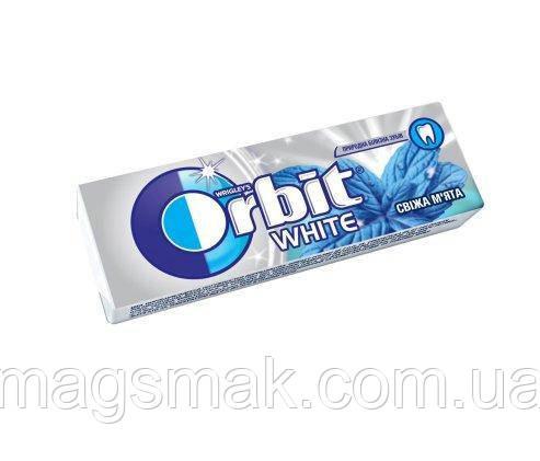 Жевательная резинка Orbit White Свежая мята без сахара 14г, фото 2