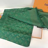 Платок, шаль палантин Луи Витон изумруд с люрексом качеством ААА, фото 2
