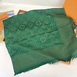 Платок, шаль палантин Луи Витон изумруд с люрексом качеством ААА, фото 3