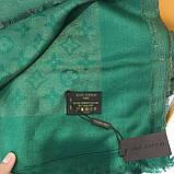 Платок, шаль палантин Луи Витон изумруд с люрексом качеством ААА, фото 6