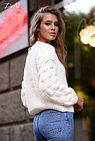 Ультрамодный свитер плотной вязки, фото 3