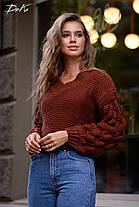 Ультрамодный свитер плотной вязки, фото 2