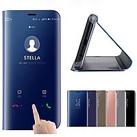 Зеркальный чехол книжка для смартфона Xiaomi Redmi Note 7 / Note 7 Pro