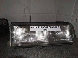 №197 Б/у фара ПРАВАЯ для Mazda 626 1987-1994