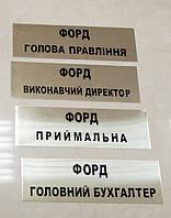 Табличка на двери металлическая