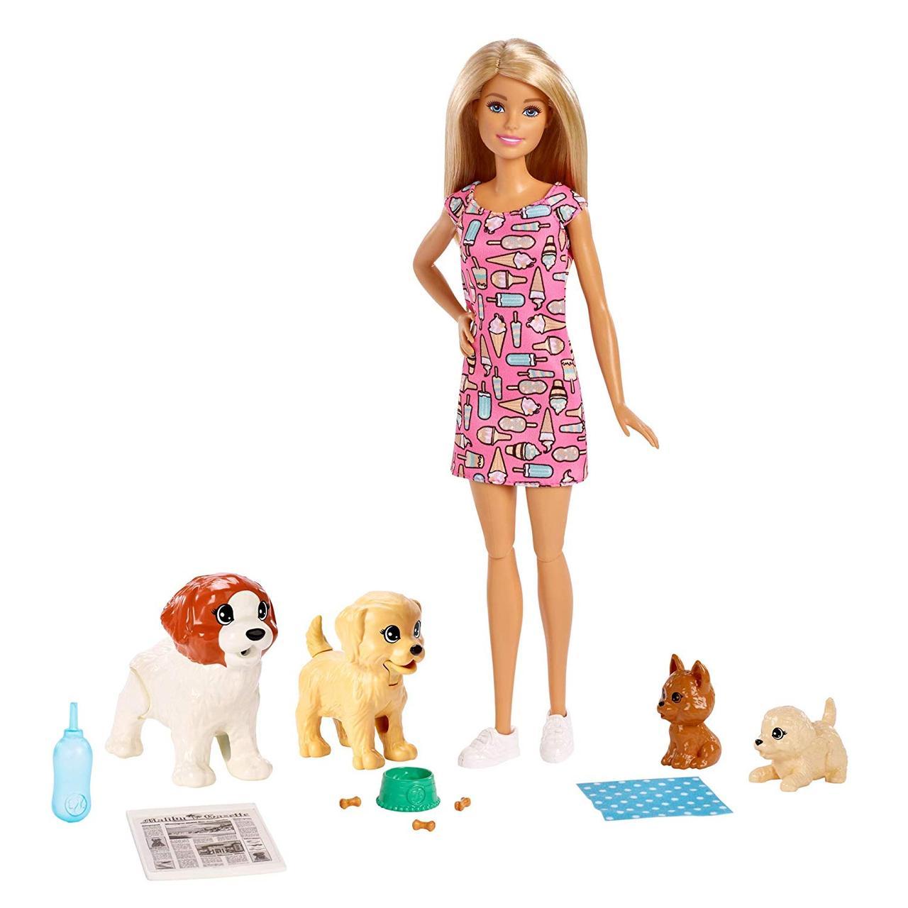 Кукла Барби Детский садик щенков уход за щенками Barbie Doggy Daycare Doll & Pets