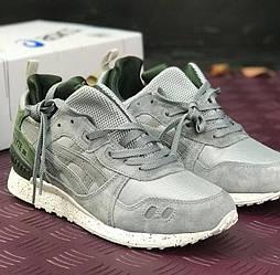 Зимние кроссовки Asics gel lyte grey khaki серые с хаки 41-45рр. Живое фото (Реплика ААА+)