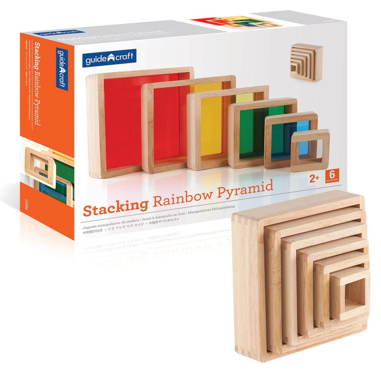 Набор блоков Цветная пирамидка Block Play Guidecraft  (G5066)