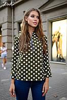Женская модная блузка на молнии  ДГс41325/1 (норма / бат), фото 1