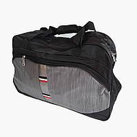 Спортивная сумка с плечевым ремнем черно-серая, фото 1