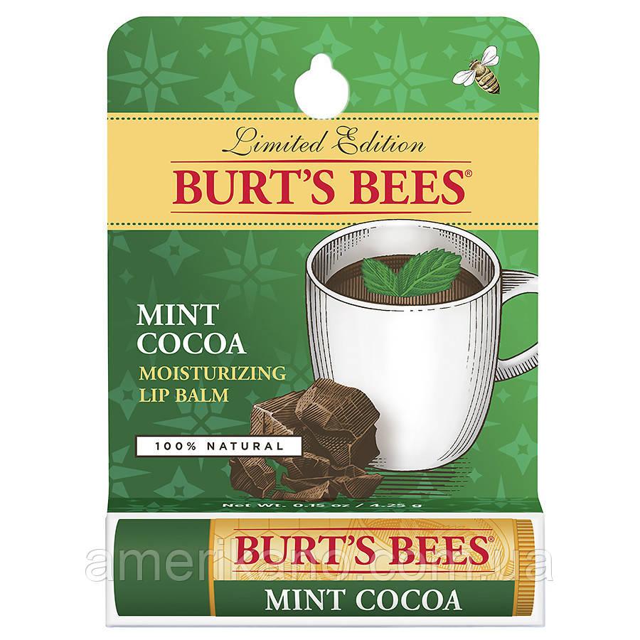"""Зволожуючий бальзам для губ """"Какао. М'ята."""" Burt's Bees Mint Chocolate США, органік."""